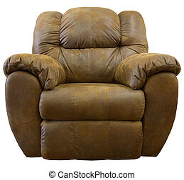 Rocker Recliner - Brown Micro Suede Fabric Rocker Recliner...
