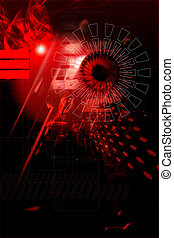 abstract  in red - computer background illustration