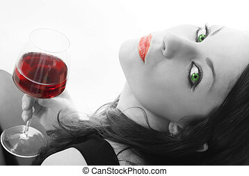 black and white red wine - cute and young black and white...