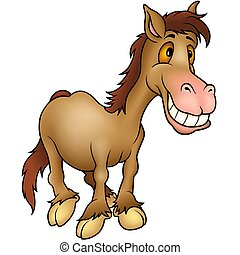 Horse humourist  - Highly detailed cartoon animal