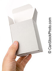 open box - an open box with white background