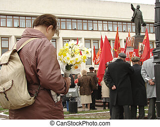 The Labour\'s Day - Communists meeting on The Labour Day...