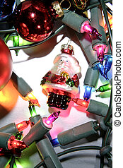 Santa and fairy lights - Santa fairy lights