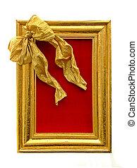 Golden frame - Shinny golden frame wit big decoration bow