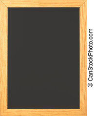 Chalkboard - Blank Old fashioned blackboard with wooden...