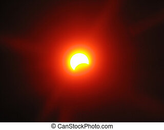 Partial solar eclipse Ukraine March 29, 2006 Through filter...