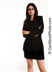 Business attitude - Full body of an attractive Armenian...
