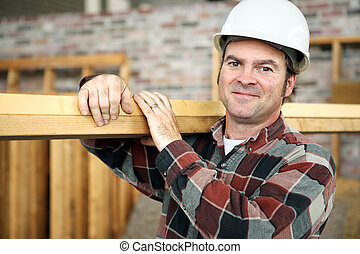 The Working Man - A friendly appealing construction worker...