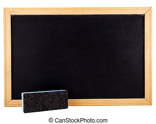 Chalkboard - Photo of a chalkboard and eraser isolated on...
