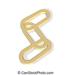 chain icon - 3d chain icon - connect concept