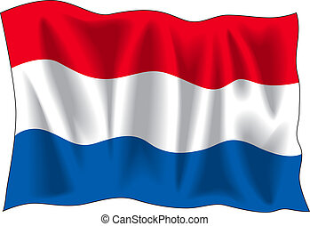 Netherland flag - Waving flag of Netherland isolated on...