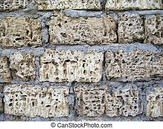 parede, ill-white, Tijolos, grande, quadro