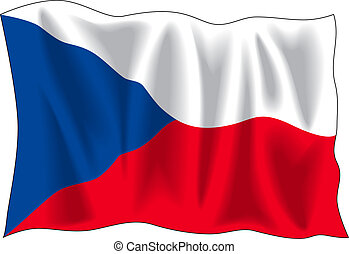 Flag of Czech Republic - Waving flag of Czech Republic...