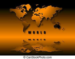 illuminated world world