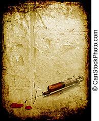 Grunge syringe