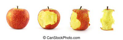 stages of eating apple
