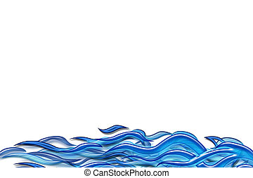 Abstract sea - 3d background illustrated deep blue sea...
