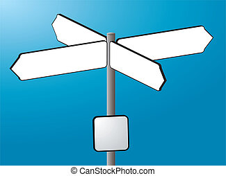 sign post cross - A illustration of a sign post drawn...