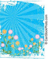 Grunge summer flowers
