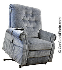 Lift Chair - Contemporary Lift Chair with Recliner in Blue...