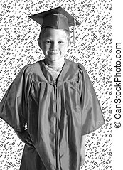 young boy graduation with cute background