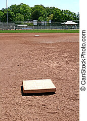 First Base - The view from first base to second base on a...