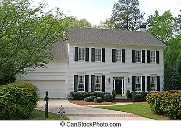 White Siding House - A nice white house in a rural setting