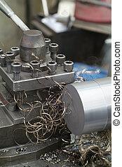 Steel lathe