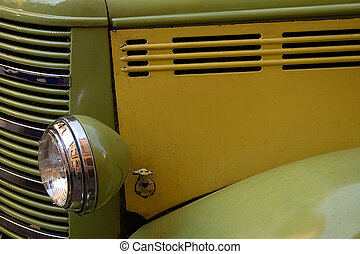 Old Bus Motor With Headlights