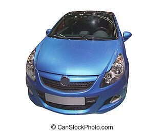 blue car isolated