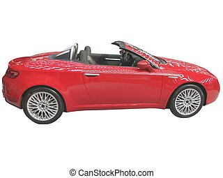 red cabriolet