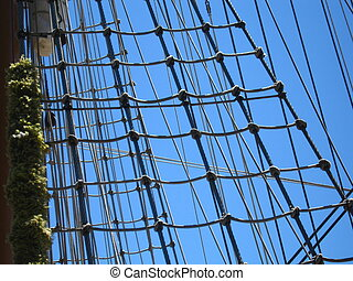ships ropes - the mast and ropes of a sailing ship