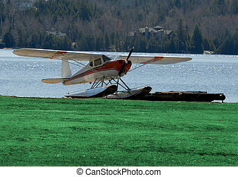 Float Plane - North American Light Aircraft With Pontoon...
