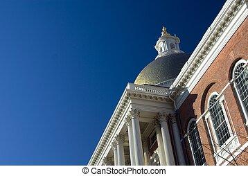 Massachusetts State House - Detail of the Massachusetts...