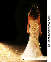 Bride in a beautiful wedding gown