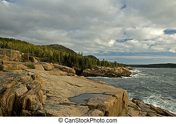 Morning, Rocky Coast - Morning Light on Rocky Coast, Acadia...
