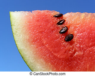 red water melon - Close-up of red water melon against the...