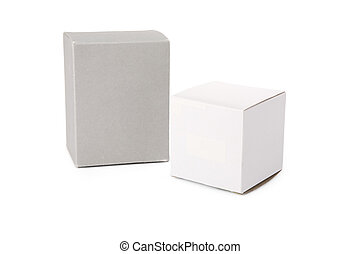 boxes - two boxes with white background