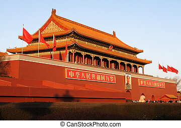 Beijing Tiananman - Beijing Tiananmen, the Gate of Heavenly...