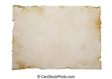 Old paper on white - Old Paper isolated on white Old Paper...