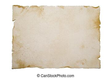 weißes, Papier, altes