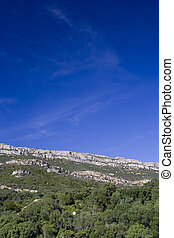 Blue sky over the mountain - Blue sky over a mountain whit...