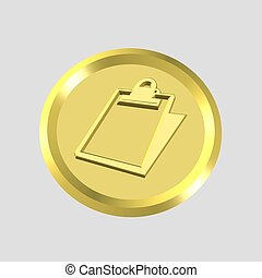 gold clipboard icon