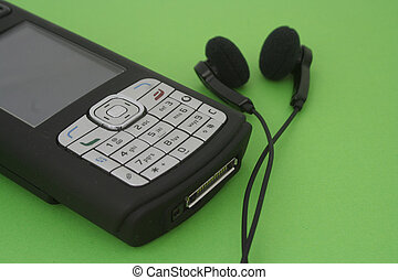 New technology pocket phone. Mobile telephone