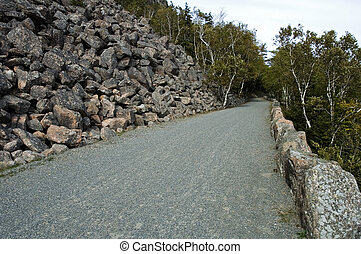 Carriage Road, Acadia NP - Carriage Road, Acadia Nat. Park,...