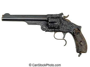 Revolver retro-1 - General view of a revolver Smith and...
