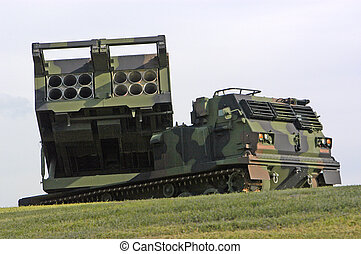 Missile Launcher - A missile launcher sitting on the grounds...