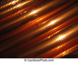rippled copper background - gold and copper toned background...