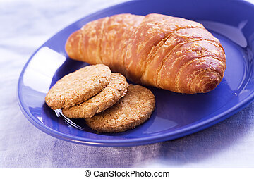Croissant and biscuit