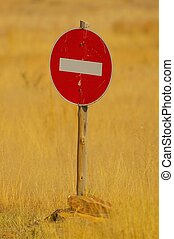 Traffic Sign -  No Entry - No entry traffic sign